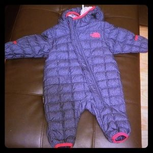 North Face infant thermal suit